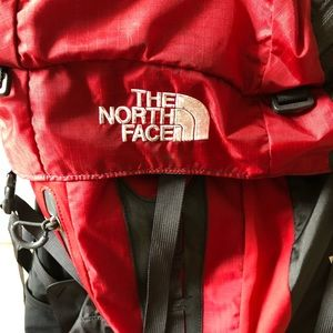 North Face hiking bag